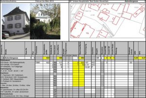 Beispiel für Datenblatt Bauberatung