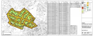 Bestandsplan mit Gebäude und Grundstücksinformationen